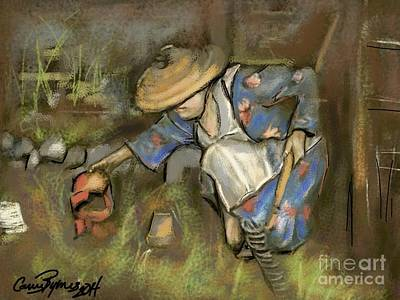 Nyc Digital Art - Victory Garden Queens Ny Forties by Carrie Joy Byrnes