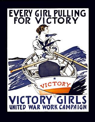 Doughboy Photograph - Victory Girls Of W W 1     1918 by Daniel Hagerman