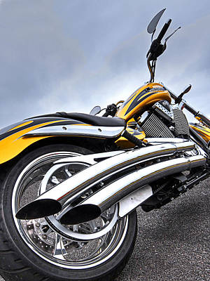 Photograph - Victory Motorcycle 106 Vertical by Gill Billington