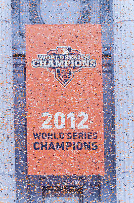 2012 World Series Champions Photograph - Victory Parade Banner For The San Francisco Giants As The 2012 World Series Champions by Scott Lenhart