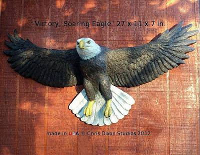 Victory - Soaring Eagle Statue Art Print by Chris Dixon
