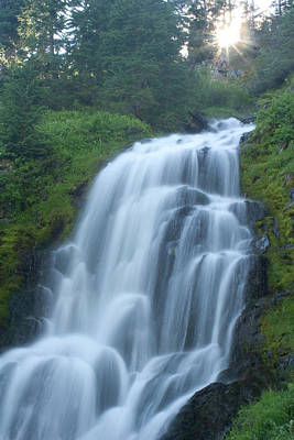 Photograph - Vidae Falls In Crater Lake National by Phil Schermeister