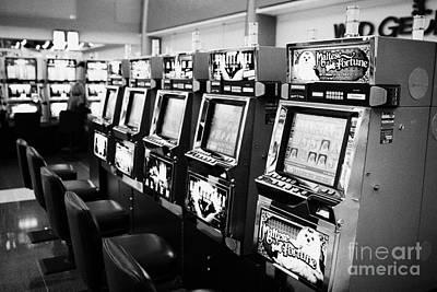 video slot machines gaming gambling machines Las Vegas Nevada USA Art Print