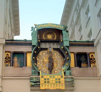 Photograph - Vienna Anker Clock by Caroline Stella