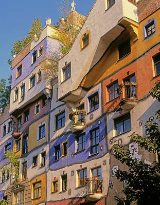 Friedensreich Photograph - Vienna, Austria. Facade by Panoramic Images