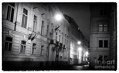 Photograph - Vienna Buildings At Night  by John Rizzuto