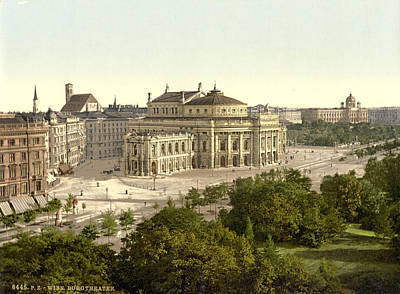 Vienna Burgtheater, C1895 Art Print by Granger