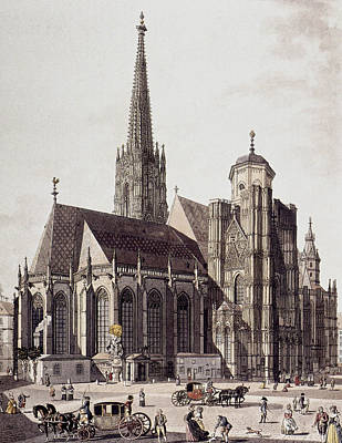 Viennese Painting - Vienna Cathedral, 1780 by Granger
