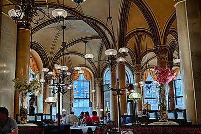 Vienna Central Cafe Art Print by Viacheslav Savitskiy