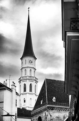 Photograph - Vienna Church Tower by John Rizzuto