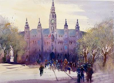 Painting - Vienna City Hall by Christa Friedl