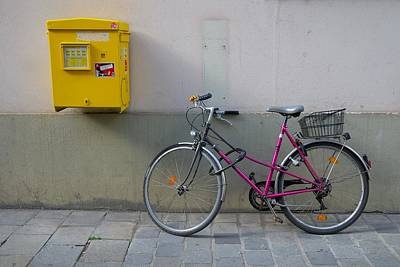 Europe Photograph - Vienna Composition In Yellow And Pink by Steven Richman