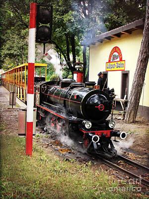 Photograph - Vienna Prater Liliputbahn Vintage Locomotive by Menega Sabidussi