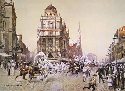 Viennese Painting - Vienna Praterstrasse by Granger