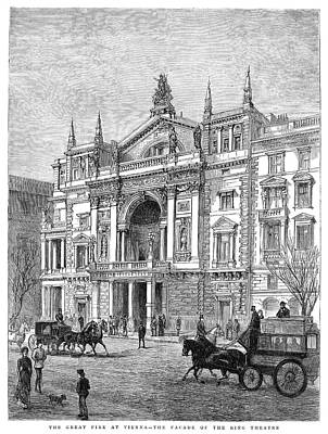 Viennese Painting - Vienna Ringtheater, 1881 by Granger