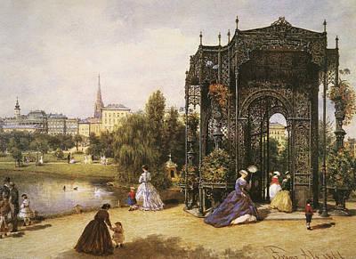 Viennese Painting - Vienna Stadtpark, 1866 by Granger