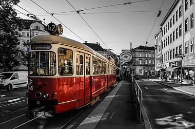 Vienna - Tramway Colourkey Art Print