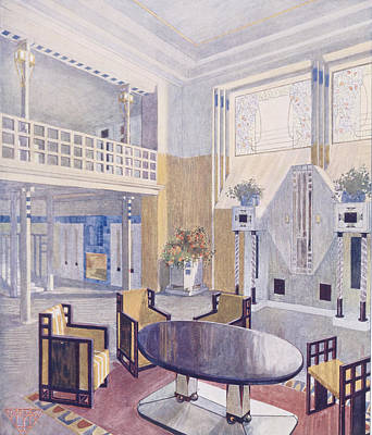 Viennese Project From A Hall Art Print by Austrian School