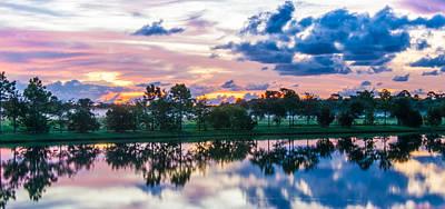 Photograph - Viera Sunrise Scene 1 by Cliff C Morris Jr