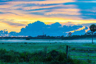 Photograph - Viera Sunrise Scene 4 by Cliff C Morris Jr