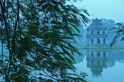 Kiem Photograph - Vietnam, Hanoi Hoan Kiem Lake And Thap by Walter Bibikow