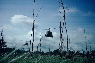 Photograph - Vietnam Helicopter Assault by Christopher James