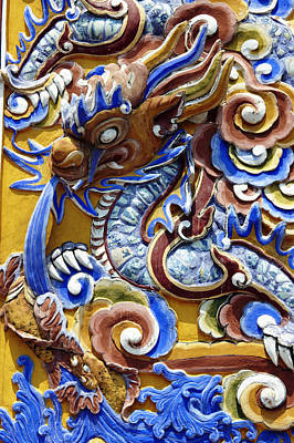 Ceramics Photograph - Vietnam, Hue, Dragon In The Imperial by Tips Images