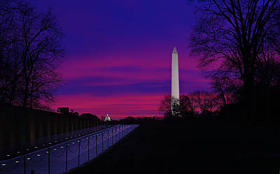Vietnam Memorial Sunrise Art Print by Metro DC Photography