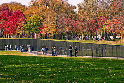 Photograph - Vietnam Memorial Wall by Gene Norris