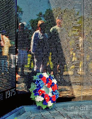 Vietnam Veterans Memorial Wall Photograph - Vietnam Memorial Wall by Nick Zelinsky
