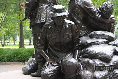 Photograph - Vietnam Nurses Memorial  Faith by Andrew Romer