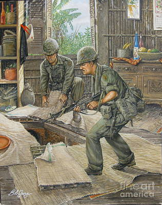Painting - Vietnam Tunnels by Bob  George