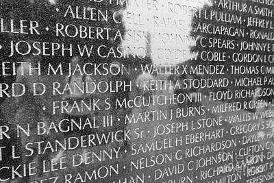 Photograph - Vietnam Veterans Memorial by Allen Beatty