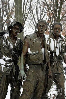 Photograph - Vietnam Veterans Memorial by Andrew Romer