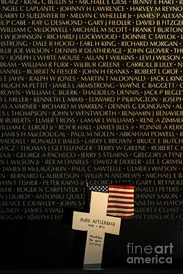 Vietnam Veterans Memorial Wall Photograph - Vietnam Veterans Memorial by John Greim