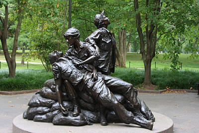 Photograph - Vietnam War Women's Memorial by Andrew Romer