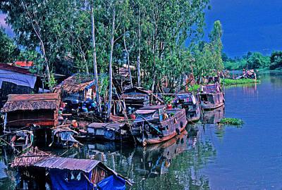 Israeli Flag - Vietnamese Fishing Village  by Rich Walter