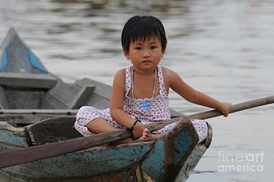 Vietnamese Girl On Lake Tonle Sap Art Print