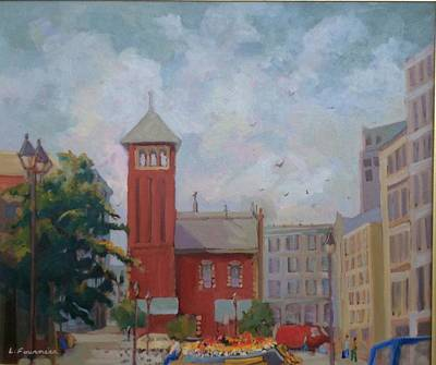 Painting - Vieux  Montreal by Liliane Fournier
