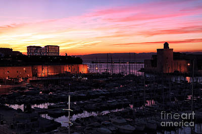 Photograph - Vieux Port Sunset by John Rizzuto