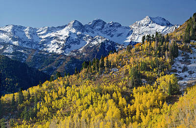 Big Cottonwood Canyon Photograph - View Across Butler Fork Of Mount by Howie Garber