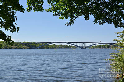 Photograph - View At One Of The Many Bridges In The Green City Of Stockholm - by Kennerth and Birgitta Kullman