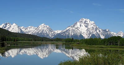 View At Oxbow Bend In Grand Tetons National Park Art Print