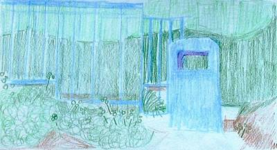 Drawing - View At Park Cyprus by Anita Dale Livaditis
