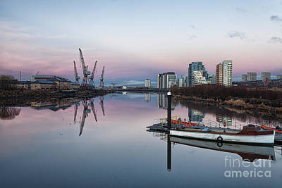 View Down The Clyde. Art Print by John Farnan
