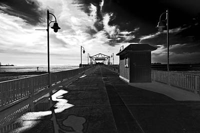 Art Print featuring the photograph View Down The Pier by Joseph Hollingsworth