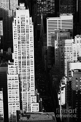 View Down Towards Fifth 5th Avenue Ave New York City Streets Art Print