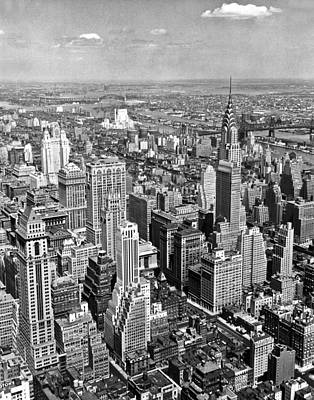 Empire State Photograph - View East From Empire State by Underwood Archives