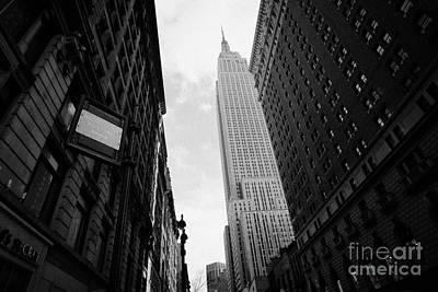 Manhaten Photograph - View Empire State Building From West 34th Street And Broadway Junction New York City by Joe Fox