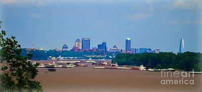Photograph - View From A Far St. Louis Downtown by Peggy Franz